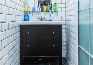 北欧风格小户型卫生间浴室柜装修效果图