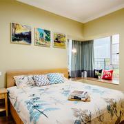 宜家风格简约卧室飘窗设计装修效果图上赏析