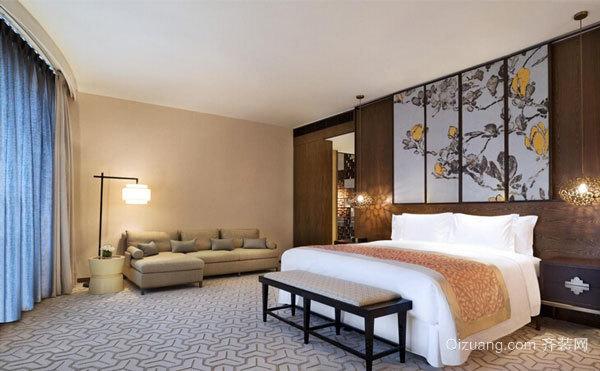 中式风格雅韵精致酒店客房设计装修实景图