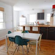 北欧风格简约开放式厨房餐厅一体装修效果图赏析