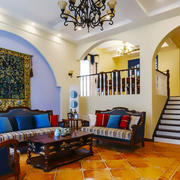 地中海风格混搭别墅客厅装修效果图赏析