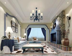 地中海风格简约清爽客厅装修效果图赏析