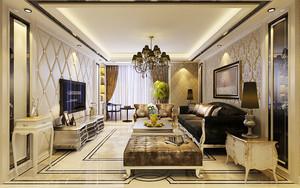 151平米古典欧式风格精致大户型室内装修效果图