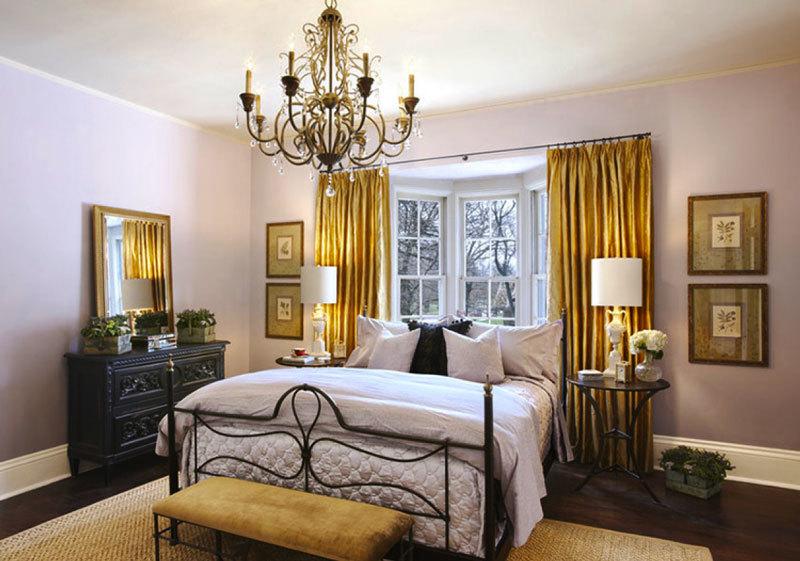 简欧风格精致大户型卧室窗帘装修效果图赏析