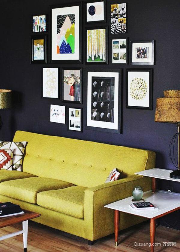 现代简约风格时尚客厅照片墙装修效果图赏析