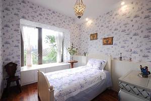 欧式田园风格温馨三室两厅室内装修效果图案例