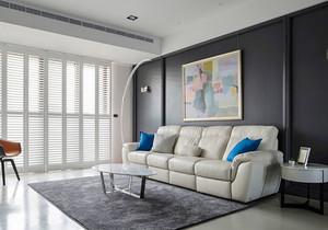 现代风格冷色调精致客厅装修效果图赏析