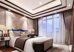中式风格古典精致卧室背景墙装修效果图赏析