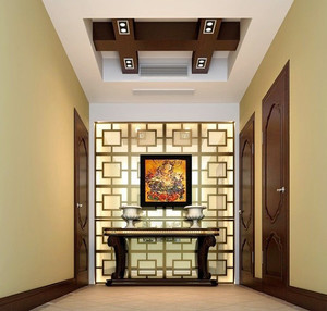 420平米中西混搭风格别墅室内装修效果图案例