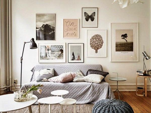 北欧风格客厅照片墙装修效果图赏析