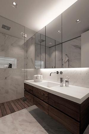 147平米后现代风格极简主义大户型室内装修效果图