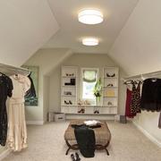 简欧风格精致别墅室内衣帽间设计装修效果图