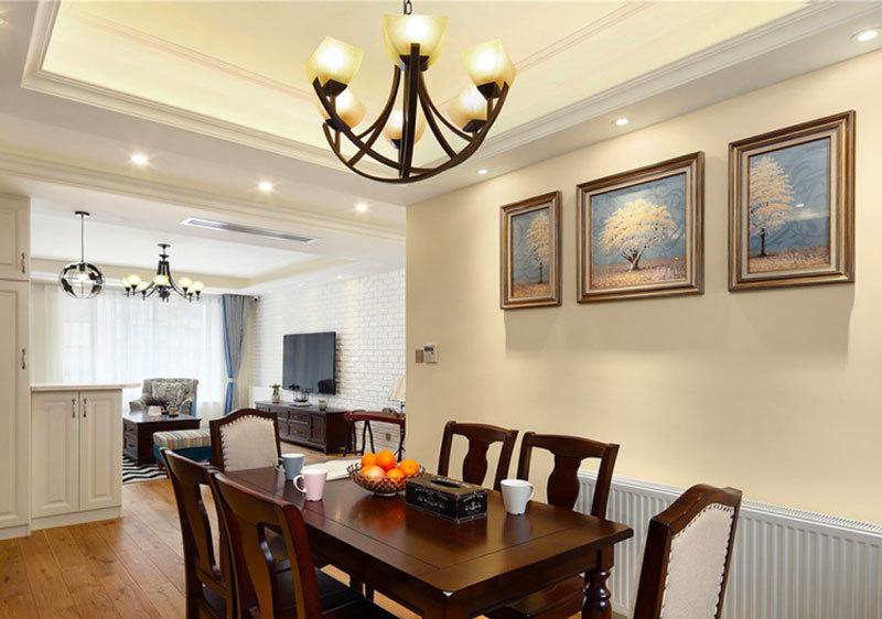美式风格三居室室内餐厅照片墙装修效果图赏析