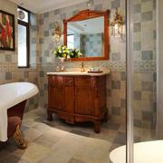 美式风格大户型精致卫生间浴室柜装修效果图