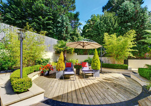 现代风格休闲舒适花园设计装修效果图