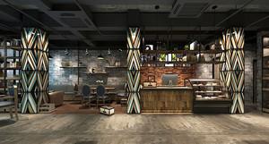 后现代风格冷色调咖啡厅装修效果图赏析