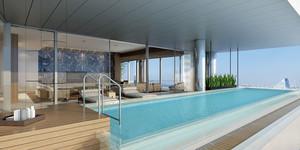 现代风格五星级酒店游泳池装修效果图