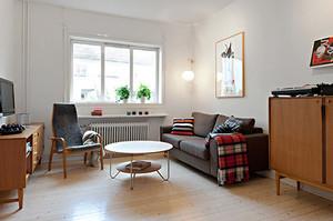 67平米北欧风格简约自然一居室装修效果图案例