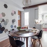 现代简约风格时尚创意餐厅背景墙装修效果图