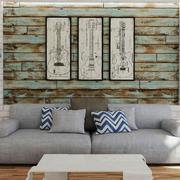 后现代风格创意小户型客厅背景墙装修效果图