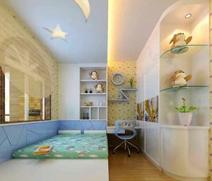 124平米欧式风格精致三室两厅室内装修效果图