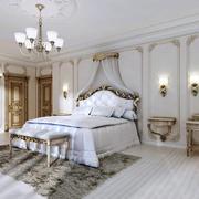 欧式风格低调奢华别墅卧室装修效果图赏析