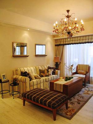 90平米欧式田园风格精致室内装修效果图案例