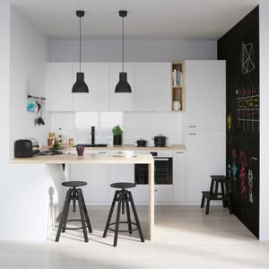 现代简约风格开放式厨房吧台装修效果图赏析