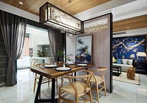 中式风格典雅精致客厅餐厅隔断装修效果图