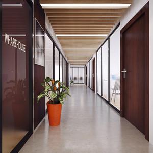 现代风格精致办公室过道装修效果图