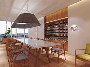 简约风格小型会议室装修实景图