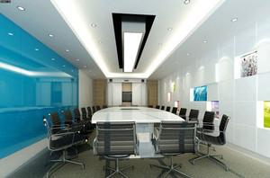 现代简约风格精致会议室吊顶装修效果图