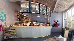 32平米现代风格奶茶店装修效果图