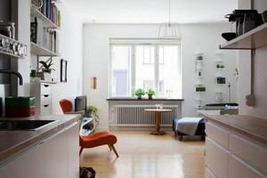 北欧风格随性简约一居室小户型装修效果图案例