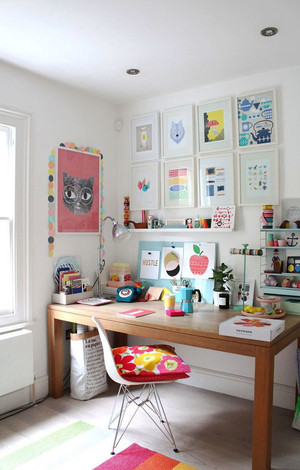 北欧风格简约时尚小书房装修效果图赏析