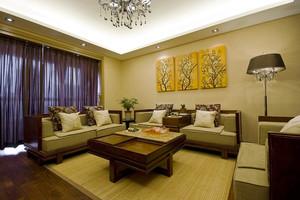 东南亚风格古朴禅意两室两厅室内装修效果图