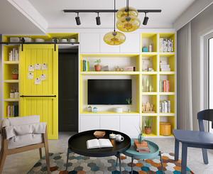58平米现代风格精装单身公寓装修效果图案例