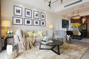 106平米简欧风格精致三室两厅室内装修效果图赏析