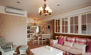 98平米欧式田园风格精致两室两厅装修实景图赏析