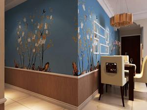 90平米中式风格鸟语花香室内装修效果图