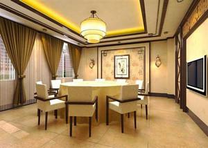 中式风格精致酒店包厢设计装修效果图