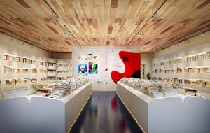 76平米现代风格精致书店咖啡厅装修效果图