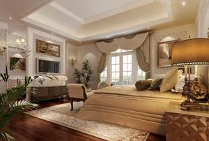 欧式风格五星级酒店客厅设计装修效果图