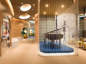 现代简约风格创意咖啡厅环境设计装修效果图