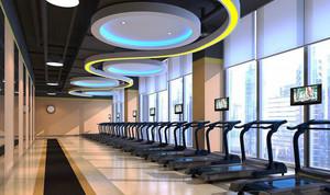 现代风格精致健身房吊顶设计装修效果图赏析