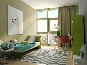 现代简约风格小清新儿童房装修效果图赏析