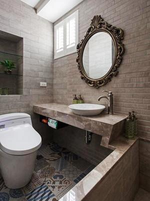 92平米美式风格精致两室两厅室内装修效果图案例