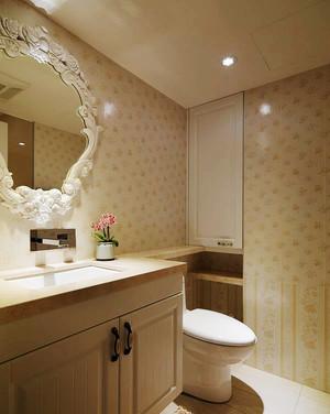 106平米欧式田园风格三室两厅装修效果图案例