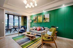 67平米清新风格精致一居室装修效果图案例