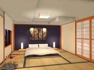 日式风格简约榻榻米卧室装修效果图欣赏